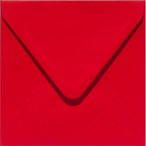 Papicolor Envelop vierk. 14cm rood 105gr-CV 6 st 303918 - 140x140 mm