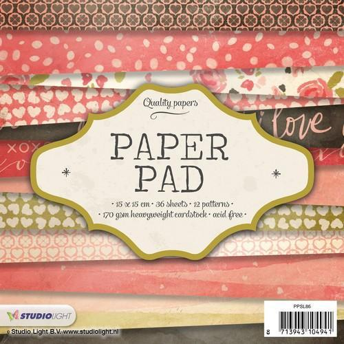 Studio Light Paper pad 36 vel 12 designs nr 86 PPSL86 15x15cm (05-18)