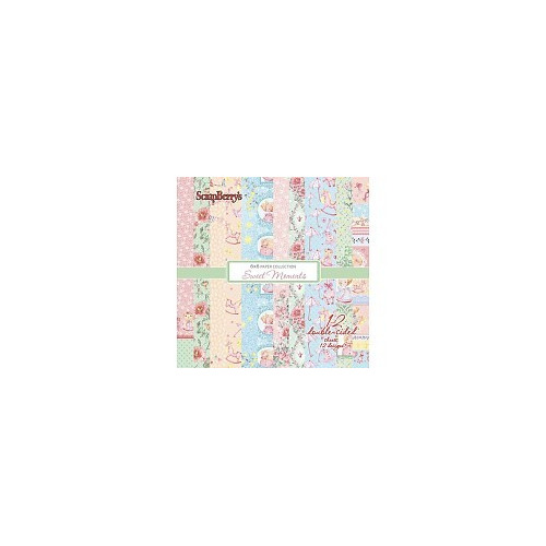 ScrapBerry`s Sweet Moments Paper Set 6x6 Inch (12 Sheets)