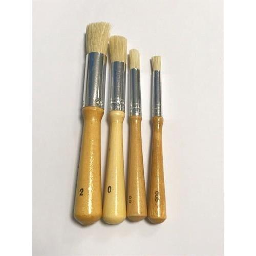 Stencil tamponeer penselen 4 stuks formaten, 000,00,0,2 11901-3001