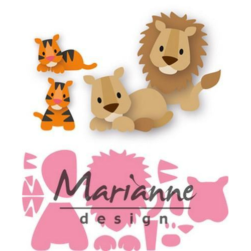 Marianne D Collectable Eline`s leeuw / tijger COL1455 100x75mm (07-18)