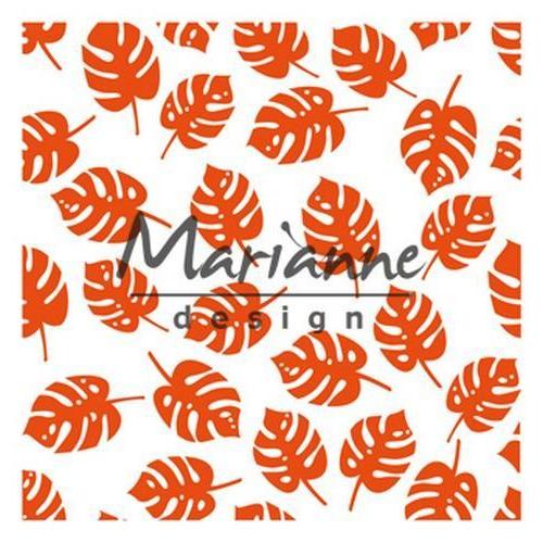 Marianne D Embossing folder Tropische bladeren DF3449 141x141mm (07-18)