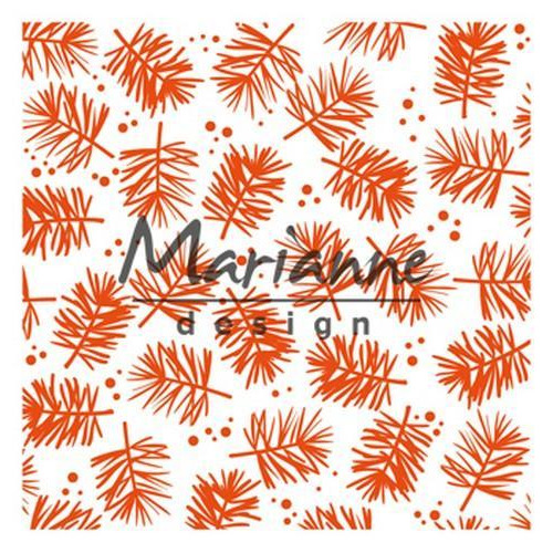 Marianne D Embossing folder  dennentak - Pine DF3450 141x141mm (07-18)