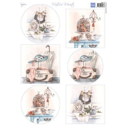 Marianne D 3D Knipvellen Mattie`s mooiste: Brocante MB0176  (07-18)