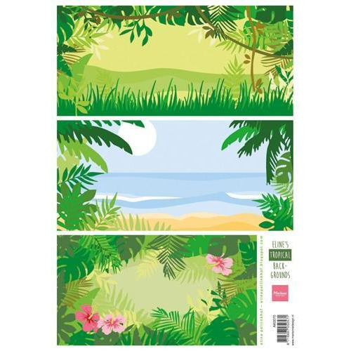 Marianne D 3D Knipvellen Eline`s tropical backgrounds AK0070  (07-18)