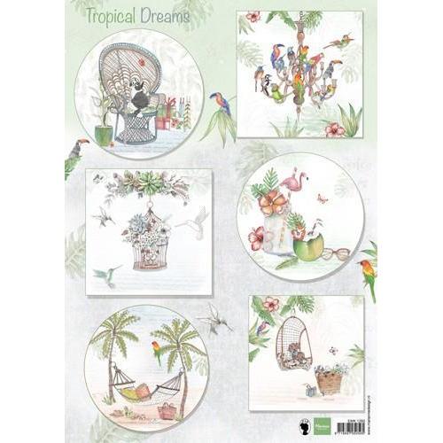 Marianne D 3D Knipvellen Els Tropcial dreams EWK1260  (07-18)