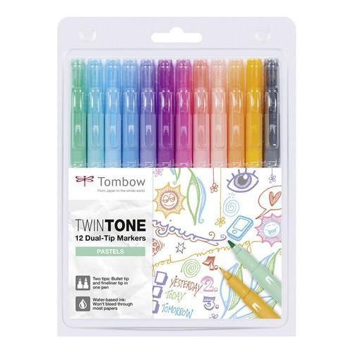 Tombow TwinTone markers 12st set pastelkleuren 19-WS-PK-12P-2