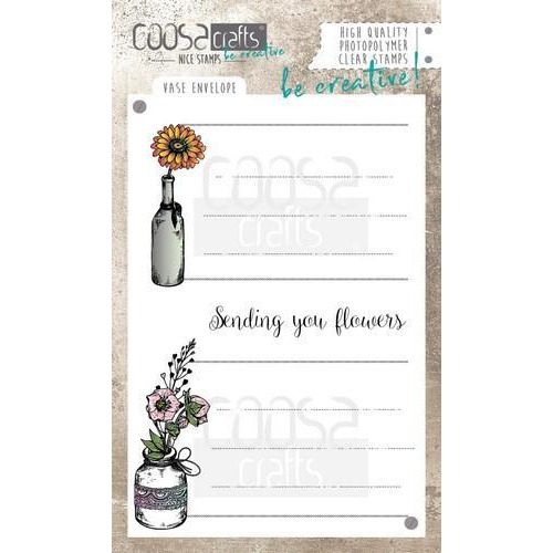 COOSA Crafts clearstamps A6 - Envelop vaas COC-044 (06-18)