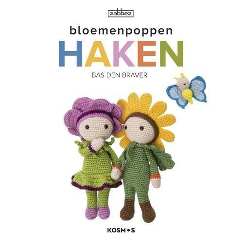 Kosmos Boek - Bloemenpoppen haken Braver, Bas den (07-18)