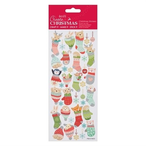 Glitter Stickers - Woodland Stocking