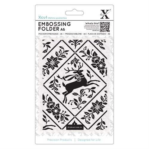 A6 Embossing Folder - Stag and Ivy