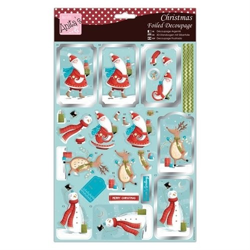 Foiled Decoupage - Presents from Santa and Friends