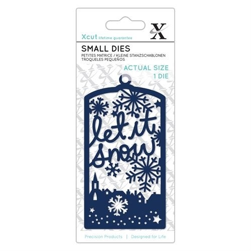Small Dies (1pc) - Let It Snow Tag