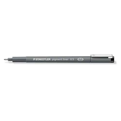 Staedtler pigment liner fineliner 0,5 mm zwart 308 05-9