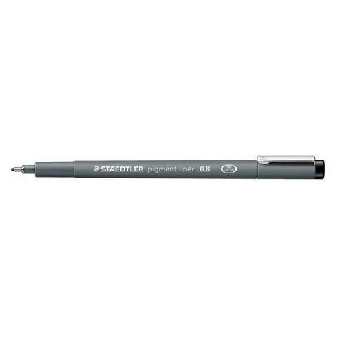 Staedtler pigment liner fineliner 0,8 mm zwart 308 08-9
