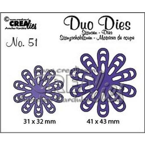 Crealies Duo Dies no. 51 bloem 22 CLDD51 / 31x32, 41x43mm (06-18)