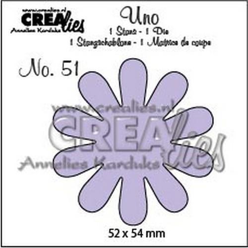 Crealies Uno nr. 51 bloem 22 CLUno51 / 52x54mm (06-18)