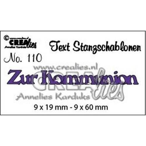 Crealies Tekststans (DE) nr 110 Zur Kommunion CLTSS110 / 9x19mm, 9x60mm (06-18)