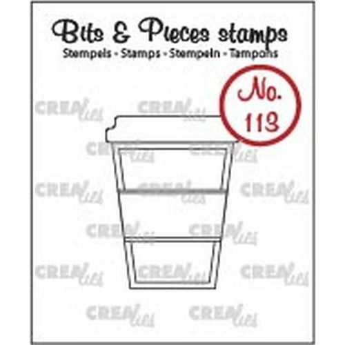 Crealies Clearstamp Bits & Pieces no. 113 koffie om mee te … CLBP113 / 26x34mm (06-18)