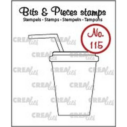 Crealies Clearstamp Bits & Pieces no. 115 softdrink/milksh. CLBP115 / 37x43mm (06-18)