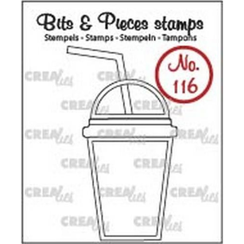 Crealies Clearstamp Bits & Pieces no. 116 smoothie CLBP116 / 30x53mm (06-18)
