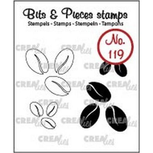 Crealies Clearstamp Bits & Pieces 119 koffiebonen CLBP119 / 12x12, 21x22mm (06-18)