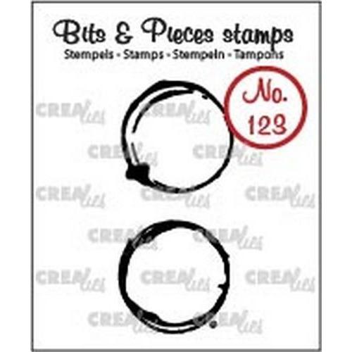 Crealies Clearstamp Bits & Pieces no. 123 koffievlekken M CLBP123 2x21x22mm (06-18)