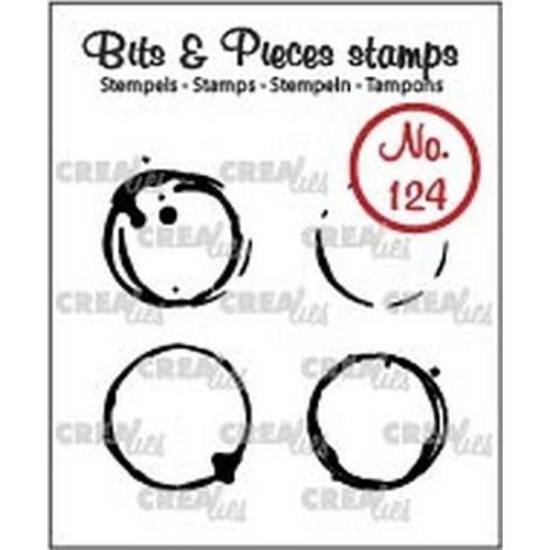 Crealies Clearstamp Bits & Pieces no. 124 koffievlekken S CLBP124 4x18x18mm (06-18)