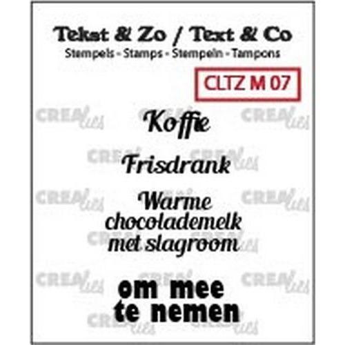 Crealies Clearstamp Tekst & Zo om mee te nemen (NL) CLTZM07 (06-18)