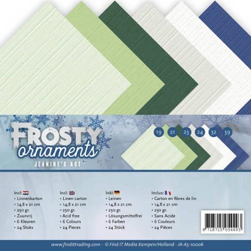 Linnenpakket - A5 - Jeanine`s Art - Frosty Ornaments