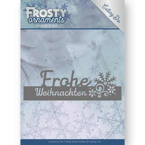 Dies - Jeanine`s Art - Frosty Ornaments - Text Frohe Weihnachten