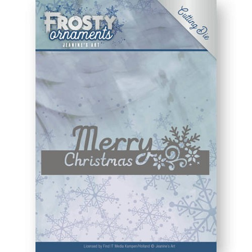 Dies - Jeanine`s Art - Frosty Ornaments - Text Merry Christmas