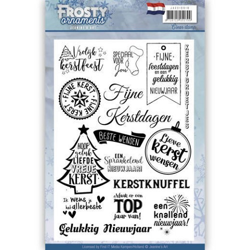 Textstamp - Jeanine`s Art - Frosty Ornaments - NL