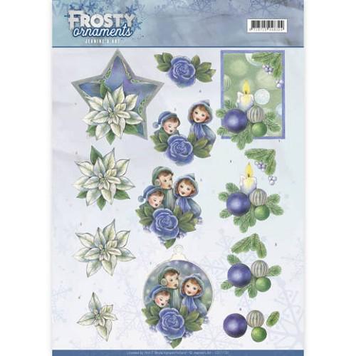 3D knipvel - Jeanine`s Art - Frosty Ornaments - Blue Ornaments