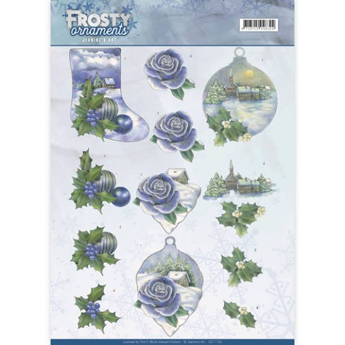 3D knipvel - Jeanine`s Art - Frosty Ornaments - Snowy Landscapes