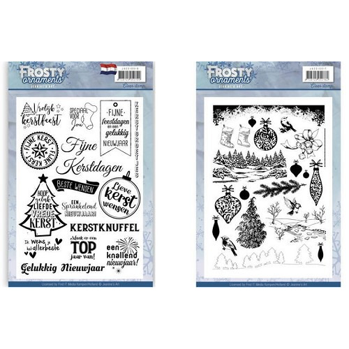 Jeanine`s Art Frosty Ornaments stempel set