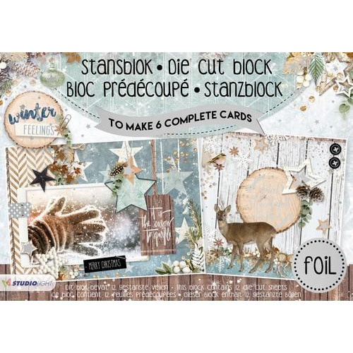 Studio Light Die cut blocs A5 folie 12 vel Winter Feelings A5STANSBLOKWF17 (06-18)