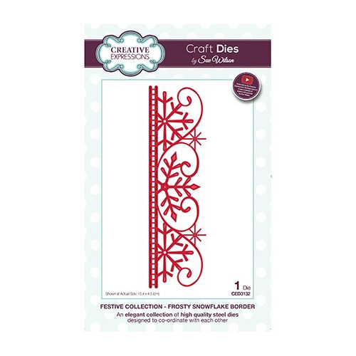 The Festive Collection Frosty Snowflake Border