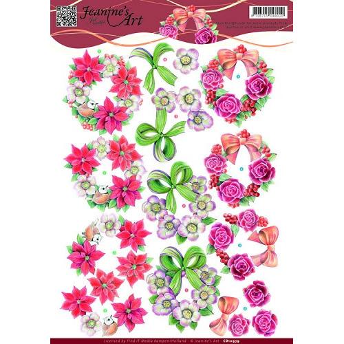 3D knipvel - Jeanine`s Art - Wreaths
