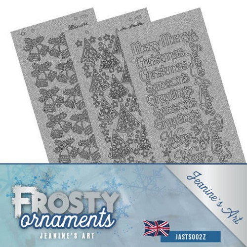 Stickerset - Jeanine`s Art - Frosty Ornaments - ENG