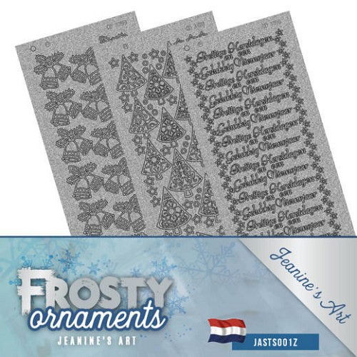 Stickerset - Jeanine`s Art - Frosty Ornaments - NL