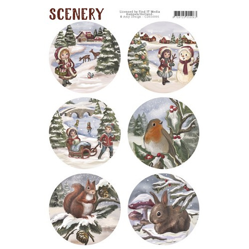 Die Cut Topper - Scenery - Kids and Animals