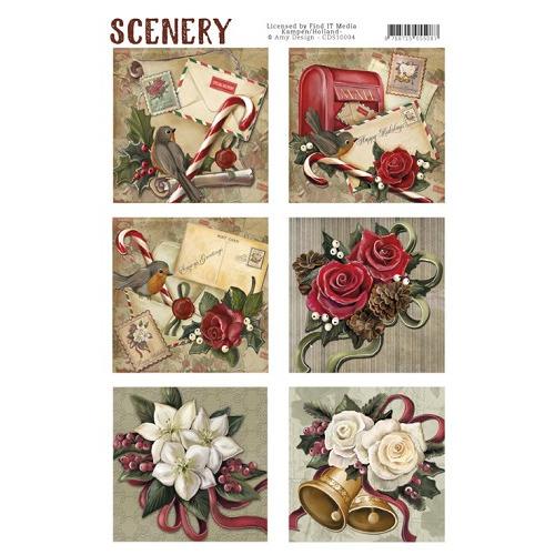 Die Cut Topper - Scenery - Christmas roses