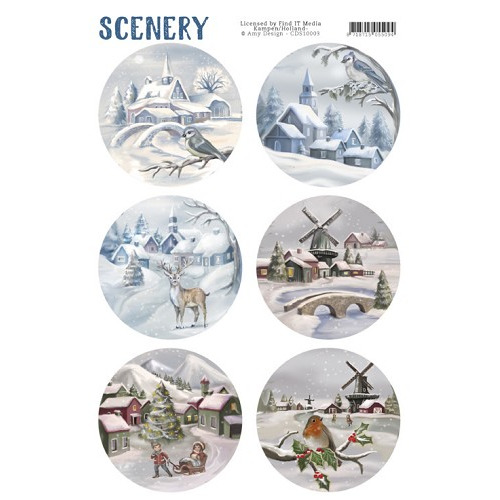 Die Cut Topper - Scenery - Snow Villages