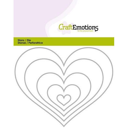 CraftEmotions Die - randen hart Card 11x14cm (08-18)