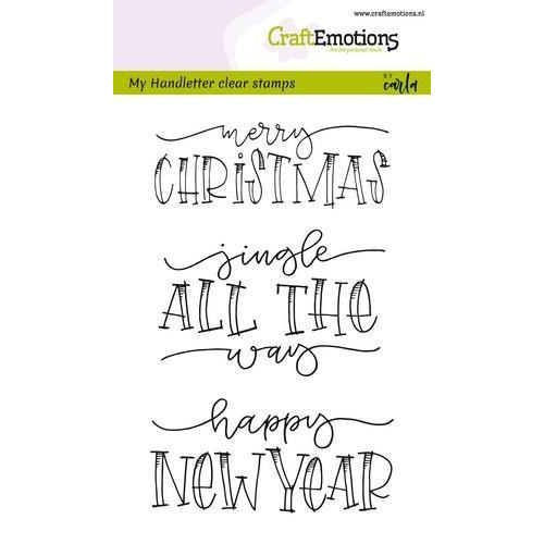 CraftEmotions clearstamps A6 - handletter - Jingle all the (Eng) CK (7-18)