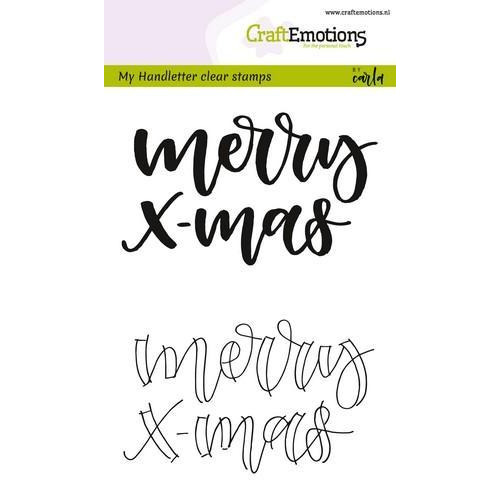 CraftEmotions clearstamps A6 - handletter - Merry xmas (Eng) CK (7-18)