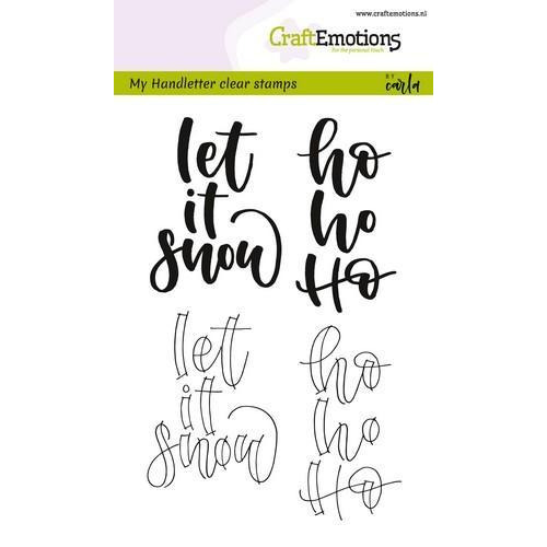 CraftEmotions clearstamps A6 - handletter - Let it snow (Eng) CK (7-18)