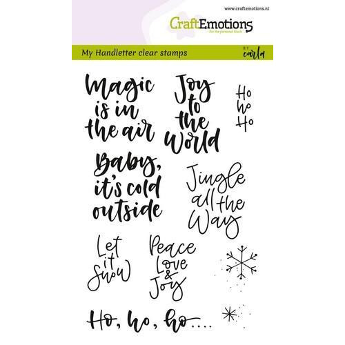 CraftEmotions clearstamps A6 - handletter - text xmas small (Eng) CK (7-18)