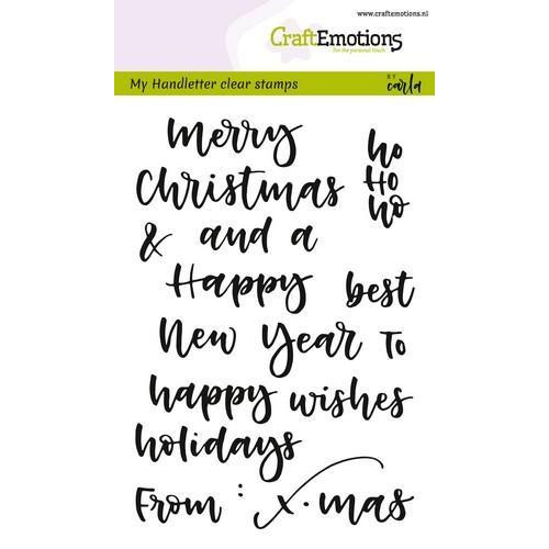 CraftEmotions clearstamps A6 - handletter - words xmas small (Eng) CK (7-18)